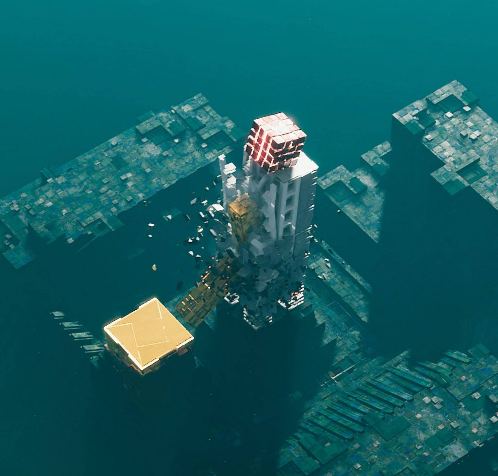 Screenshot blue square